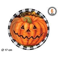 Set 6 Farfurii Dovleac Halloween