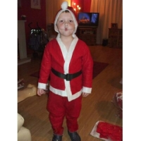 Costum Mos Craciun baietei 1-2 ani
