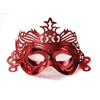 Masca Venetiana Cu Ornament Rosie