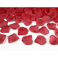 Petal Trandafir Rosu Aprins