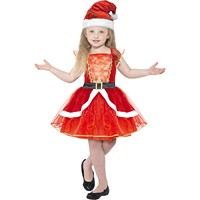 Costum Miss Santa 7-9 ani
