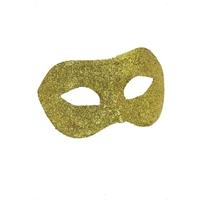 Masca Aurie cu Sclipici
