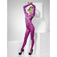 Catsuit Zebra Print Bodysuit roz