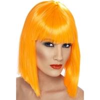 Peruca Glam portocaliu neon