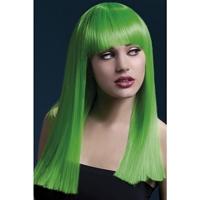 Peruca Alexia verde neon