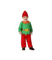 Costum Elful lui Mos Craciun bebelusi 6-12 luni