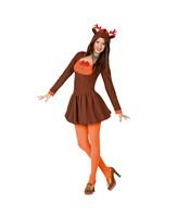 Costumatie Renul lui mos craciun pentru femei M-L