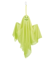 Fantoma decorativa Halloween verde neon