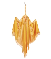 Fantoma decorativa Halloween portocaliu neon