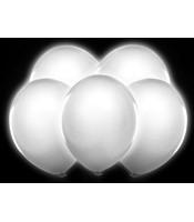5 Baloane Luminate LED albe