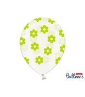 6 Baloane Model Floral Verde