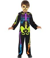 Costum Schelet Punky copii 4-6 ani