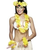 Set accesorii Hawaii galben