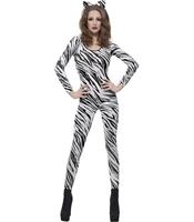 Catsuit Zebra Print Bodysuit
