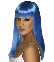 Peruca Glamourama albastru aprins