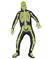 Costum Schelet Fosforescent Halloween M