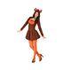 Carnaval / Petreceri Costumatii femei Cadouri de Craciun | Costumatie Craciunite Costumatie Renul lui mos craciun pentru femei XS-S