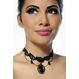 HALLOWEEN Accesorii Costume Colier Gothic Black Diamond