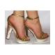 Sandale Gold Print - 38 aurii