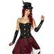 HALLOWEEN Accesorii Costume Corset Steampunk S