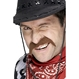 Costume Serbari Copii Accesorii Costumatii Pentru Copii - Accesorii Mustata Cowboy maro