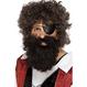 Halloween Costume Pirat Barba Pirat satena