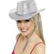 Palarie Cowboy Argintie