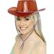 Carnaval / Petreceri Palarii si Sepci Costume Adulti Carnaval - Palarii si Sepci Carnaval Palarie de Cowboy Rosie