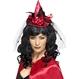 HALLOWEEN Palarii Halloween Mini palarie Vrajitoare cu cordeluta