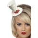 Accesorii Costume de Craciun Accesorii Costume adulti Mini Palarie White Christmas