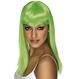 HALLOWEEN Peruci Halloween Costumatii tematice - St. Patrick's Day Peruca Glamourama verde aprins