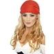 Peruca Printesa Pirat blonda, cu bandana