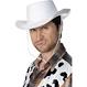 Palarie Cowboy Alba - Plastic